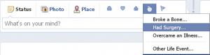אירוע בריאות בפייסבוק