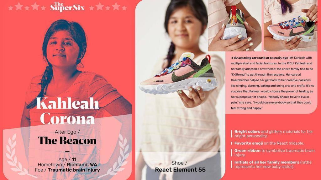 ילד שעיצבה נעל נייק לצורכי גיוס כספים